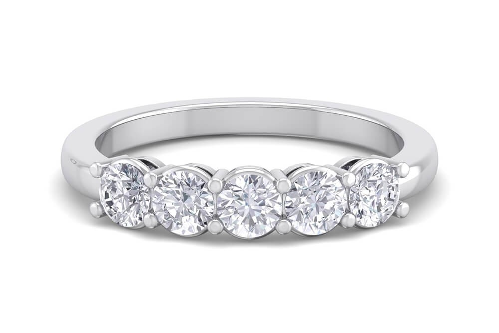 The Knightsbridge 1.0ct Half Eternity Ring