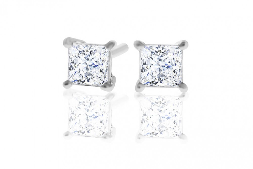 Princess 0.40ct Diamond Stud Earrings