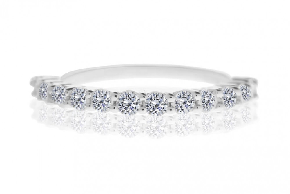 The Penny Lane 0.56ct Half Eternity Ring