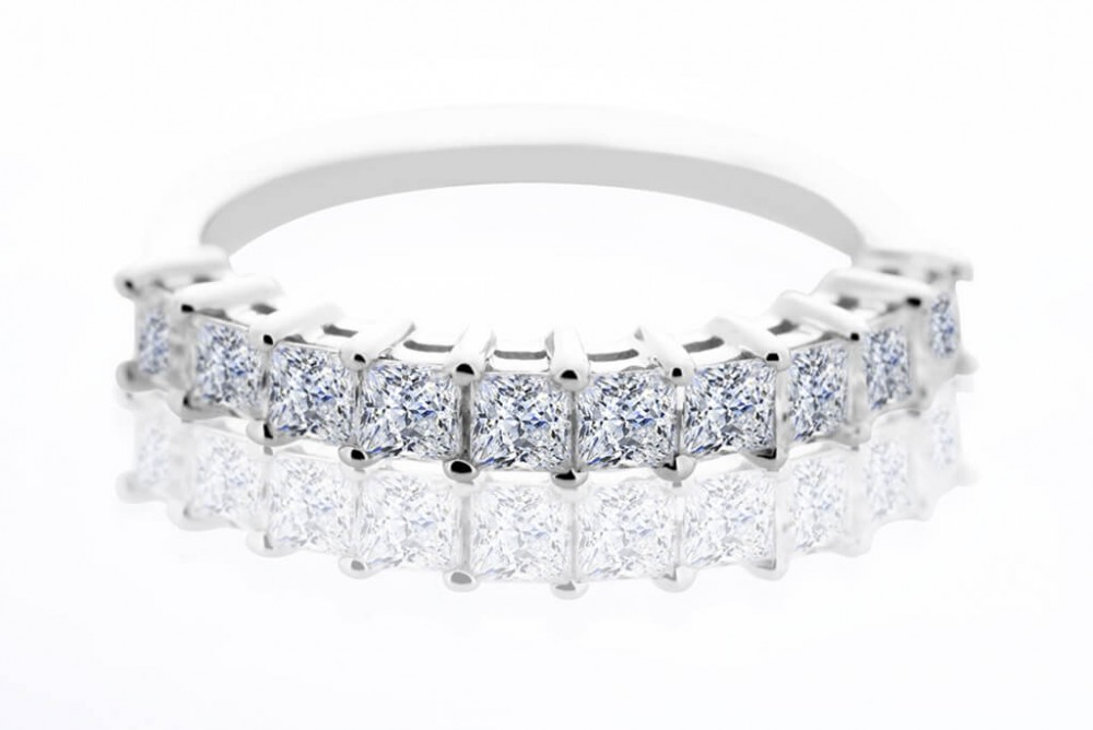 The Windsor 1.00ct Half Eternity Ring
