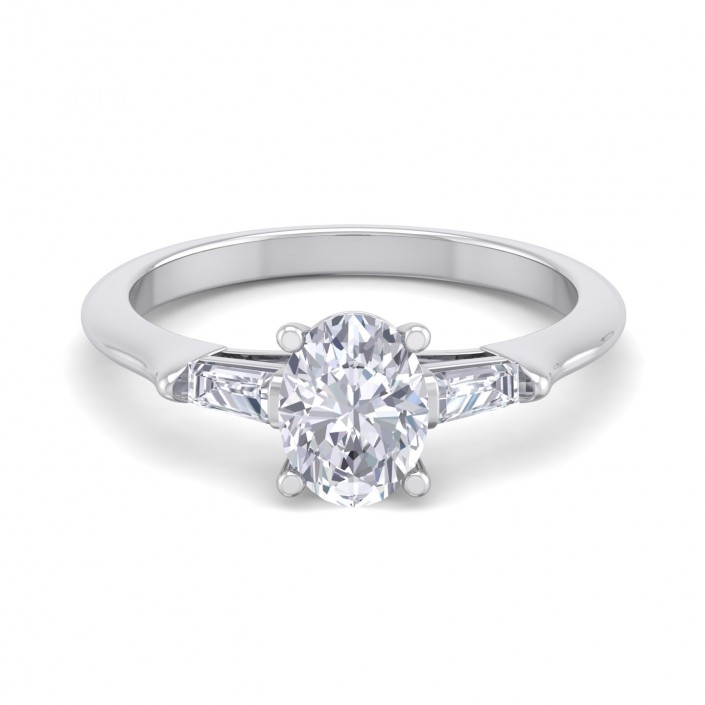 The Paris Diamond Platinum Setting (Oval)