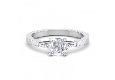 The Paris Diamond Platinum Setting (Cushion)