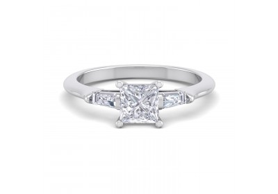 The Paris Diamond Platinum Setting (Princess)