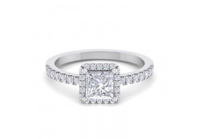 Halo Platinum Setting (Princess)