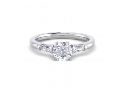 The Paris Diamond Platinum Setting (Round)