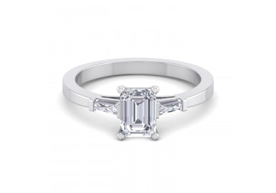 The Paris Diamond Platinum Setting (Emerald)