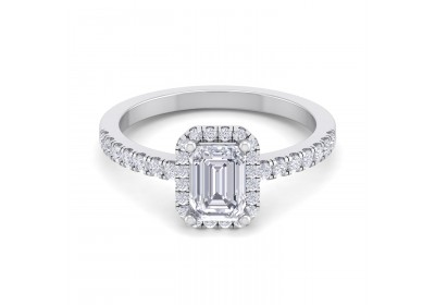 Halo Platinum Setting (Emerald)