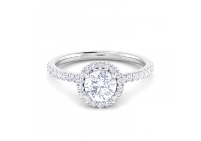 Halo Platinum Setting (Round)