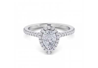 Halo Platinum Setting (Pear)