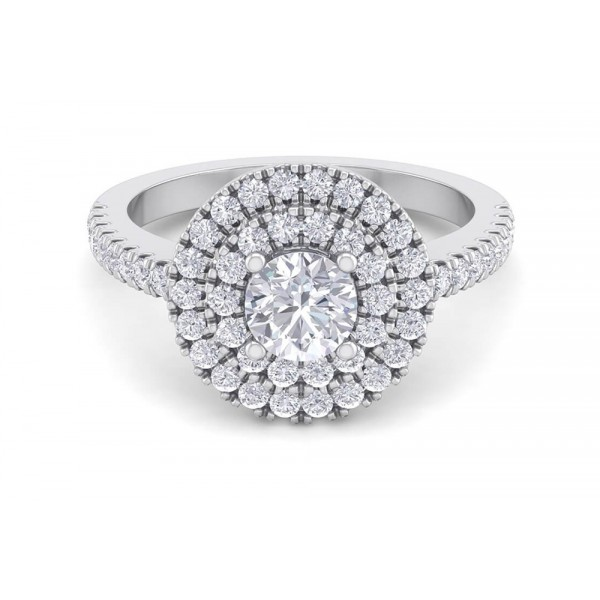 Kensington's Double Halo 1.02ct Engagement Ring