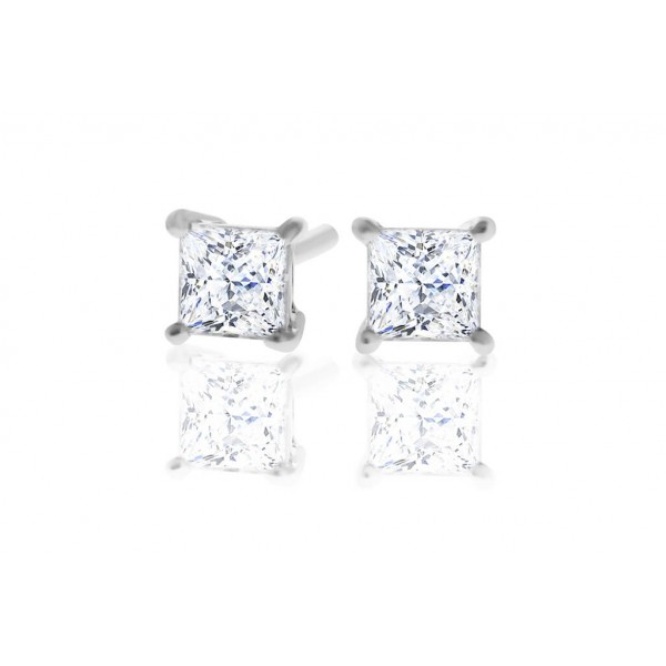 Princess 1.00ct Diamond Stud Earrings