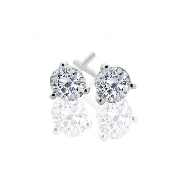 Round 0.40ct Diamond Stud Earrings