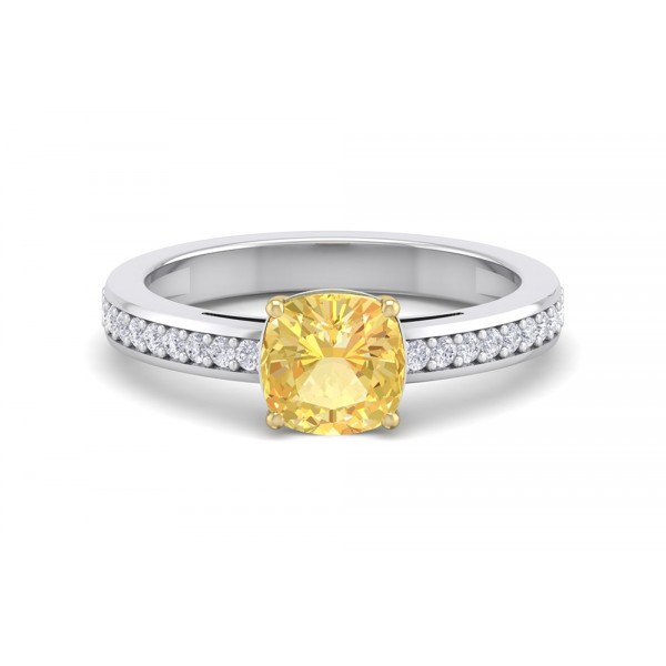 The Kensington Yellow Cushion 1.10ct